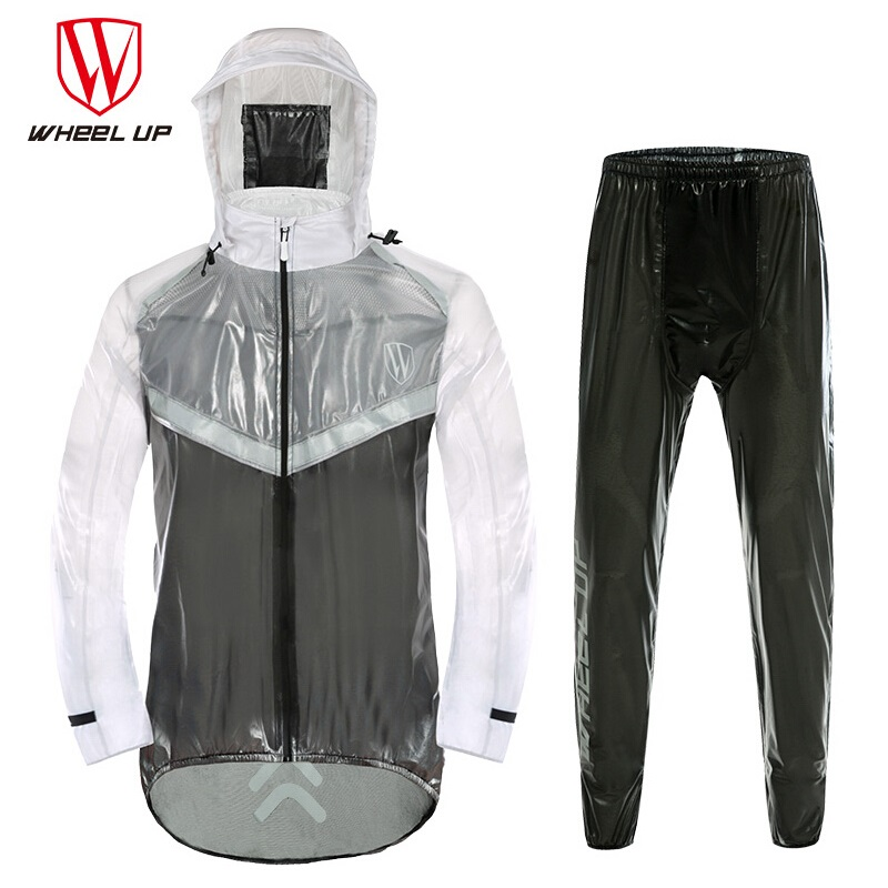 WHEEL UP Anti-Sweat Reflective Cycling Jacket Raincoat Bike Riding Motorcycle Bicycle Rainwear Mackintosh Slicker for Men Woman scoyco motorcycle riding knee protector extreme sports knee pads bycle cycling bike racing tactal skate protective ear