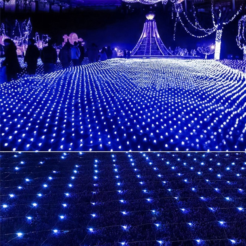 3 2m led string light net christmas lights outdoor led - How to hang string lights on wall ...