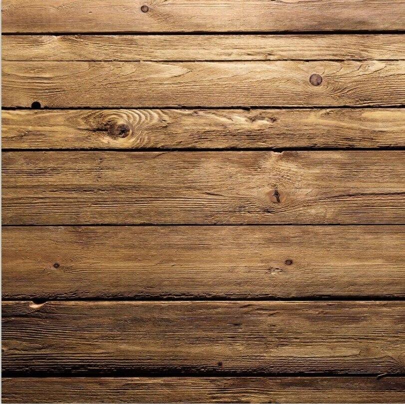 Brown Natural Rustic Real Hard Wood Backdrops Vinyl Cloth