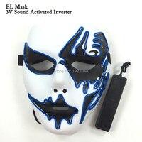 3 V Sound aktiviert Fahrer + EL Draht Blinkmaske Requisiten LED neon licht Maskerade masken geburtstag dekorationen