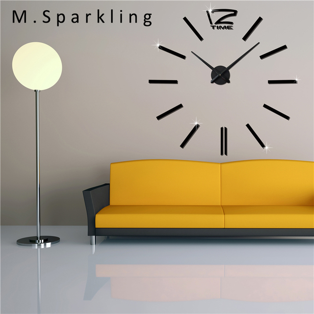 M.Sparkling] 2017 Fashion Home Decoration Wall Clock 3D DIY Acrylic ...