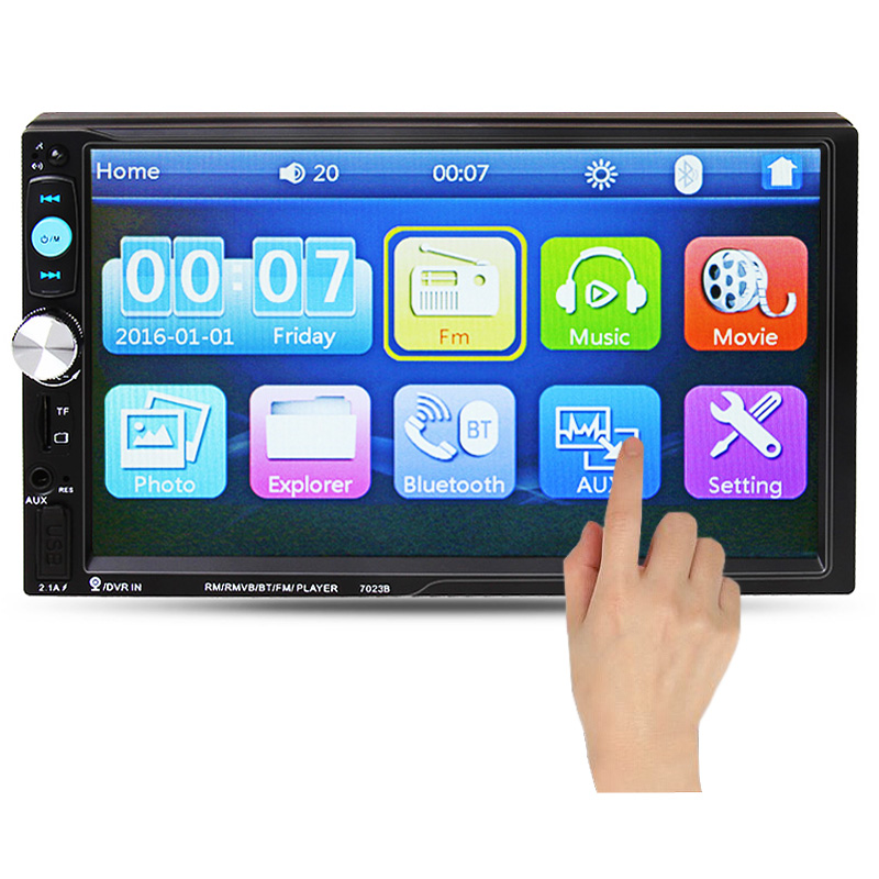 7'' HD Touch Screen Car MP5 Player Bluetooth Phone Stereo Radio FM/1080P/MP4/MP3/Audio/Video USB Auto Electronics In Dash 2 Din