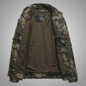 Image 3 - חדש 2019 צבא צבאי מעיל גברים טקטי הסוואה מזדמן אופנה מעילי טייסי בתוספת גודל M XXXL 4XL