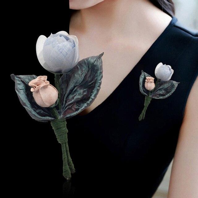 I-Remiel модная ткань Художественная ткань цветок брошь булавка для женщин платье шаль Пряжка лацкан булавка значок украшение-бутоньерка аксессуары