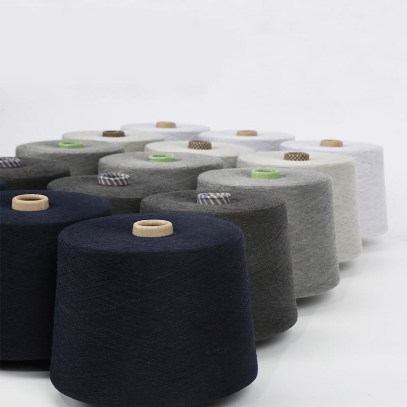 Темно серая чесаная хлопчатобумажная и серебряная нить для шитья текстильная пряжа 32 s Антистатическая (90% хлопковое волокно + 10% Серебряное волокно) - 3