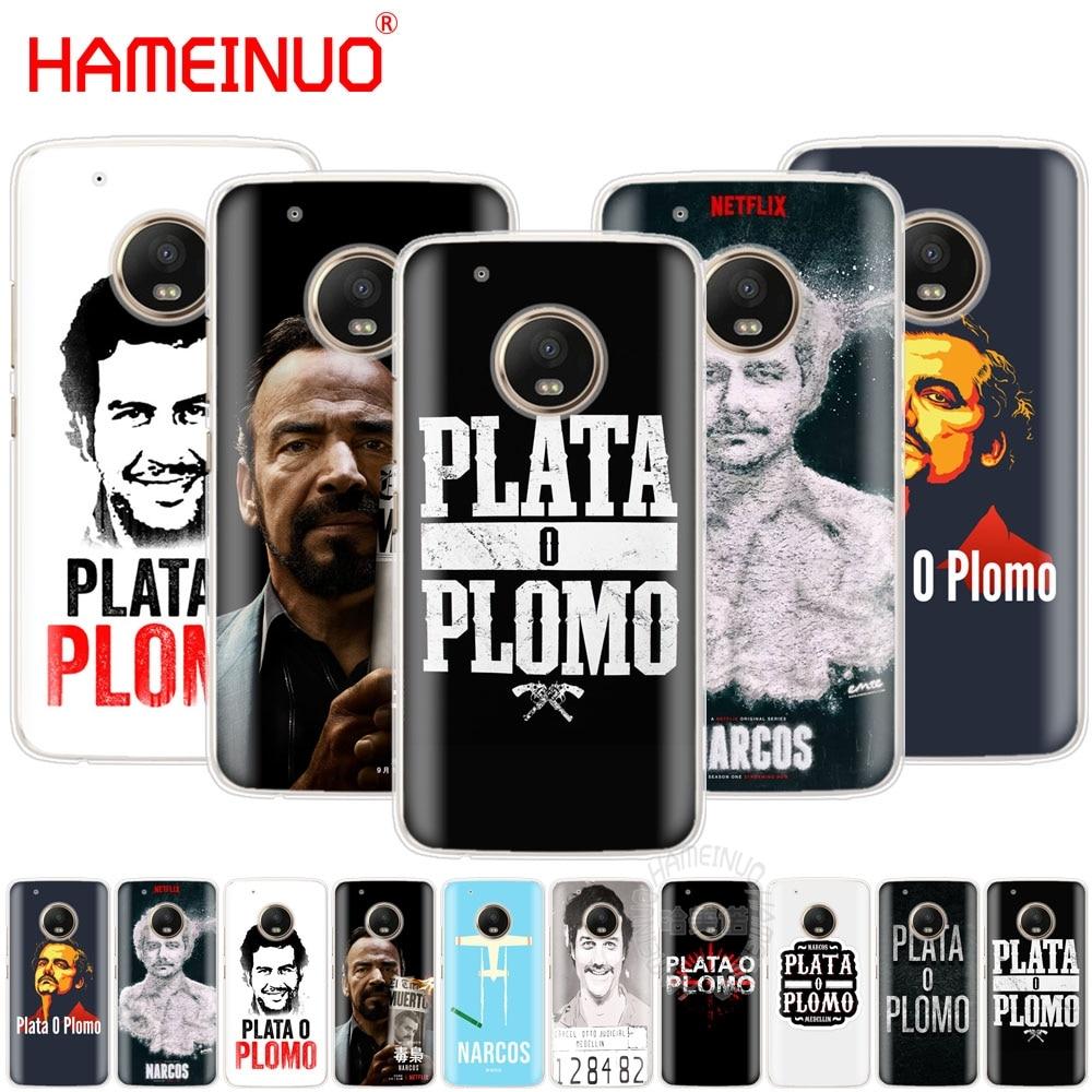 HAMEINUO Plata O Plomo Narcos Pablo case cover for For Motorola Moto X4 E4 C G6 G5 G5S G4 Z2 Z3 PLAY PLUS