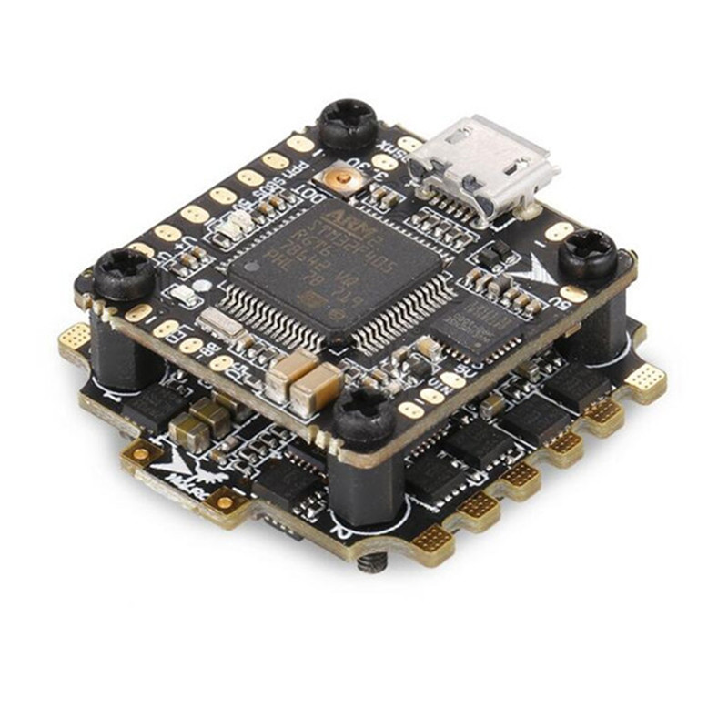 цена на Hot New 6.5g 20x20mm XJB F428 Micro F4 AIO OSD BEC Flight Controller & 28A Blhel_S BB2 2-4S 4 in 1 ESC