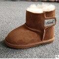 De los niños de piel de oveja botas para la nieve Bebé zapatos Infantiles Del Niño en invierno cálido