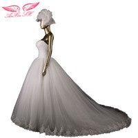 Designer Limited Edition Quality Wedding Dress Fashion Brief Lace Train Sweetheart Princess Bridal Gown Vestido De