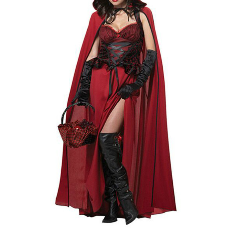 CFYH 2018 New Sexy halloween & christmas costumes for women cosplay witch sorceress angel dress With Cape lady's clothes costume
