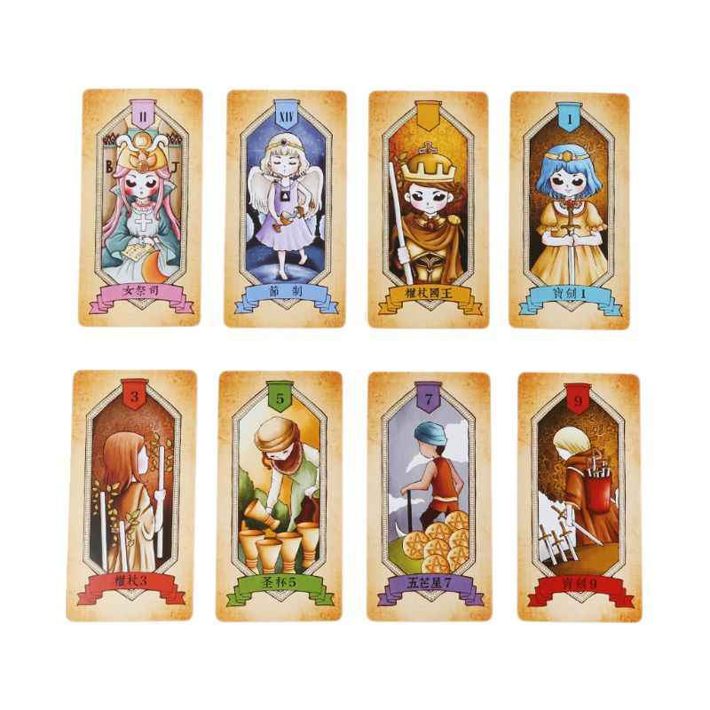 Rider Tarot Cards With Colorful Box Mysterious Divination Astrology Board Game