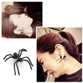 Punk Style 1Pcs Hot Exaggeration Halloween Black Spider Charm Ear Stud Earrings For Women statement Jewelry Freeshipping