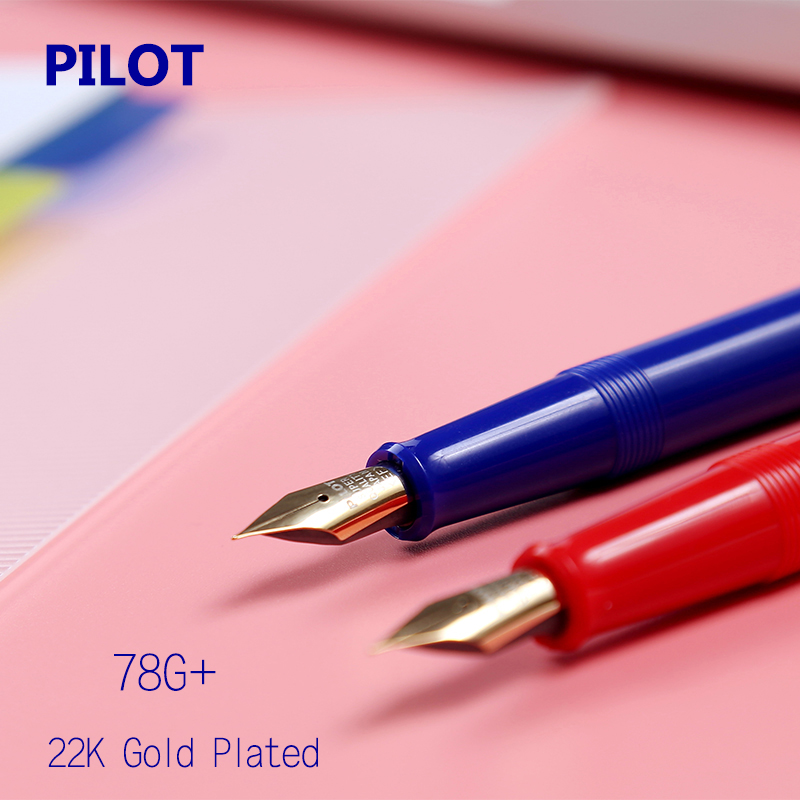 Affordable Gold Pen Pilot Fountain Pen Classic 22K GOLD Plated Tip EF F M B Tip With Ink Converter School Student Calligraphy great calligraphy helper pilot parallel pen plate nib 2 ink cartridge 1 5 2 4 3 8 6 0mm flat tip fountain pen art set
