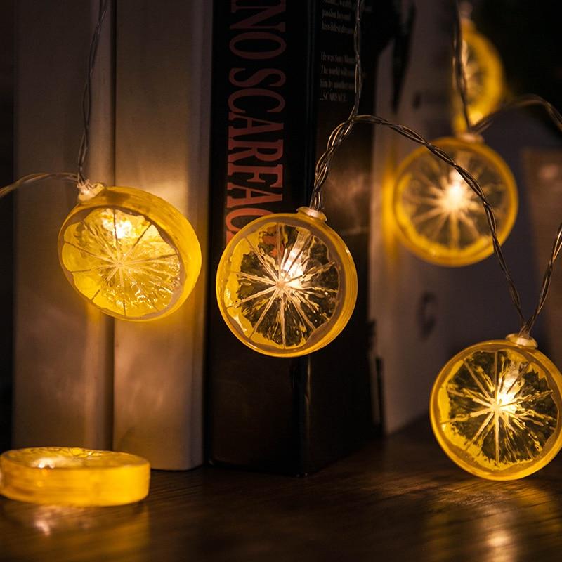 3M 20LEDs Lemon Shape Fairy String Lights Warm White Strip Light Battery/USB Operated Decorations For Christmas Birthday Wedding