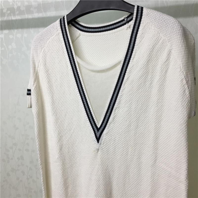 Manches 2019 De Robe Robes O Automne Mode À Hiver cou Blanc Lâche Courtes Femmes Casual zEtzr