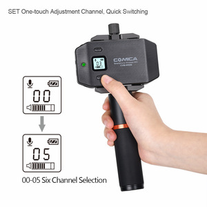 Image 2 - COMICA CVM WS50(A) UHF 6 Channel Lavalier Wireless Smartphone Microphone System with Bluetooth Remote Grip for iPhone Samsung