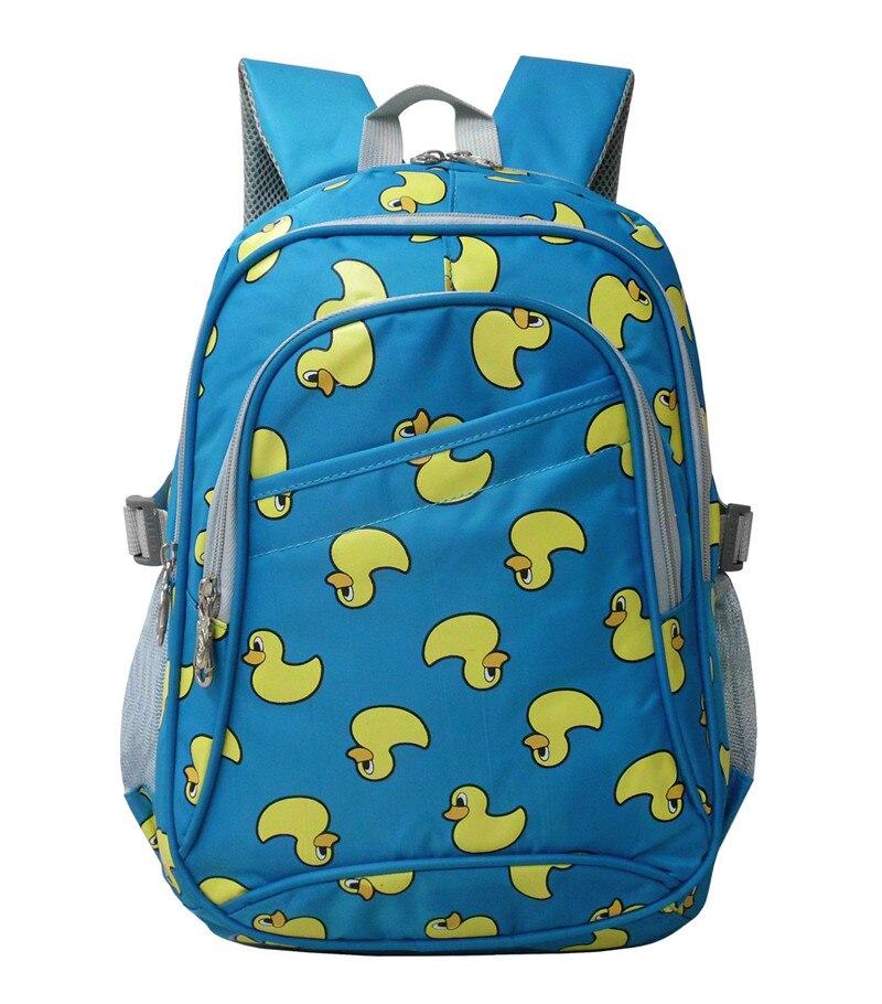 2018 Cute yellow duck printing Children School Bags for Boys Girls Primary Students Backpack Waterproof Schoolbag Kids Book Bag