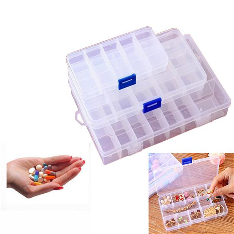 Three kinds of Slots adjustable Pill Medicine Box Holder Storage Organizer Plastic Container Case Portable drop shipping on sale