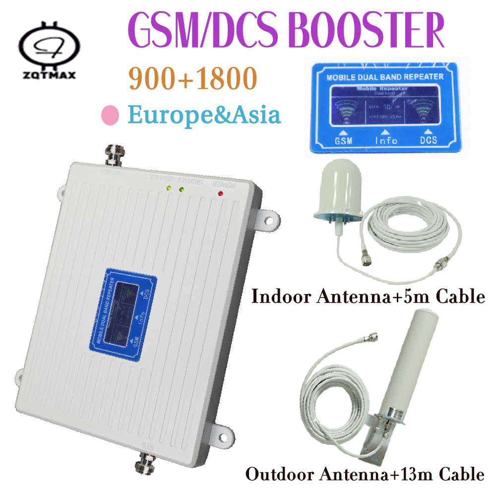 Gsm Lte 1800 Booster LCD Display 70dB Gain 2g 4g LTE Cell Phone Booster DCS 1800MHz Mobile Phone Amplifier GSM Signal Booster