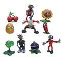 10 pçs/set PV Z Figuras de Coleta de plantas zombies Plants VS Zombies figura Brinquedos Frete Grátis