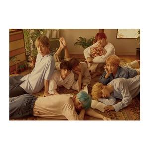 Bangtan Boys A/Korean Pop idol group Adonis HANDSOME BOY/kraft paper/bar poster/Retro Poster/decorative painting 51x35.5cm(China)