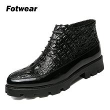 Men Fashion Ankle Boots Men leather shoes Wear Comfort Winter Shoes bota masculina Men casual shoes with big rubber outsole asifn autumn winter men s martin boots men bota masculina casual tooling shoes man leather wild european american fashion