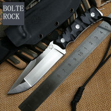 New Bolte ROCK Fixed D2 Blade Knife Survival Knives Hunting Tactical Knifes G10 Handle With Kydex Sheath Camping Outdoor Tools