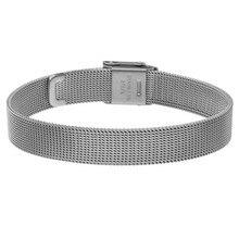 Somsoar Jewelry pulsera de malla con cierre de reloj, de plata, de acero inoxidable, de 8mm/10mm/12mm/14mm de ancho