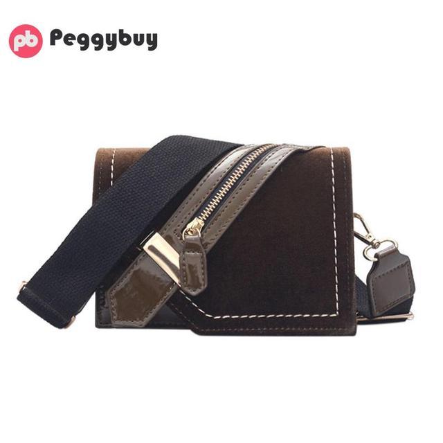 4072b53e7da8 Fashion Brand Designer Women Patchwork Handbag 2018 New Korean PU Velvet  Small Crossbody Bags Girls Sling Messenger Shoulder Bag