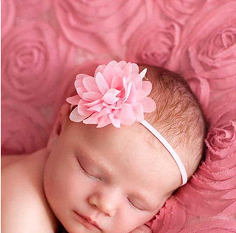 Big Sale! 14Clr Acessórios de Moda crianças crianças infantil Bebê recém-nascido menina chiffon mini flor Cabeça Banda bandas de Cabelo Cabelo Pedaço Cabeça