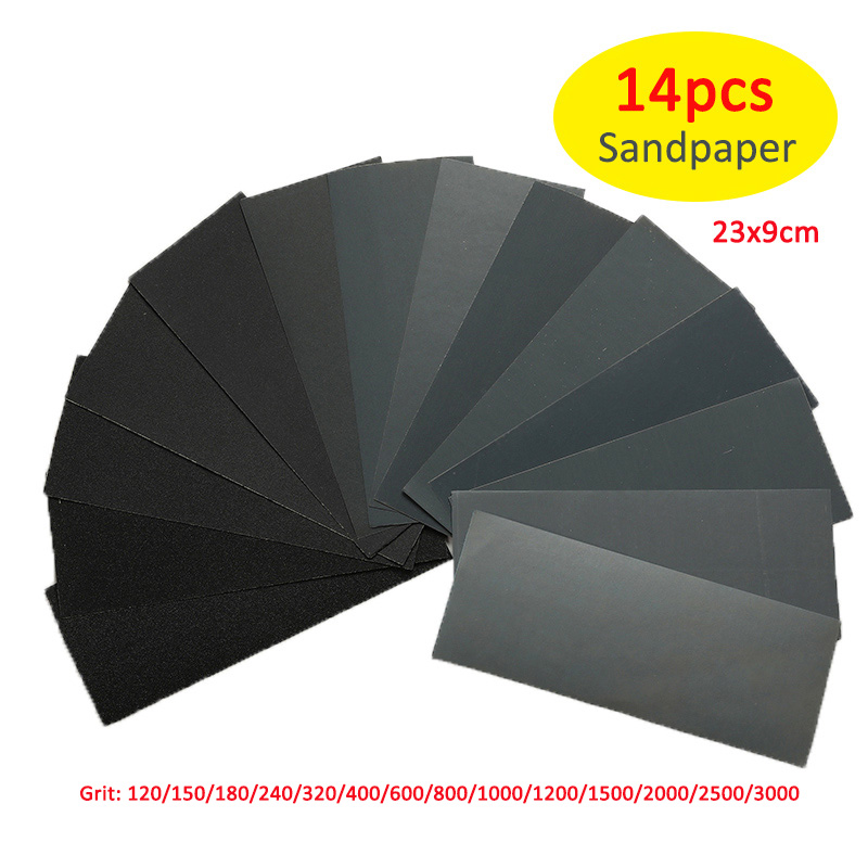 Image 2 - 5 Pieces Sandpaper Set 2000 2500 3000 4000 5000 Grit Sanding Paper Water/Dry Abrasive SandPapers 230 * 280mm-in Abrasive Tools from Tools