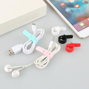Organizer-Holder Protector Cable-Clip Clamp Usb-Charger Magnetic-Cable Desktop Silicone