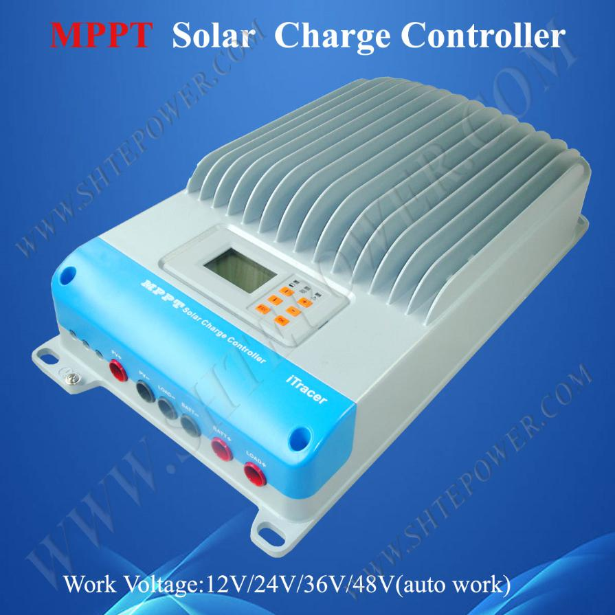 high quality IT4415ND 12v 24v 36v 48v auto mppt solar controller, 45a 150v pv controller itracer series it4415nd 45a 45amp mppt epever solar portable regulators 12v 24v 36v 48v auto work free shipping