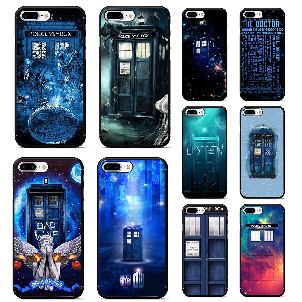 Strict Tardis Box Doctor Who Soft Tpu Silicone Phone Case For Iphone 5 5s 6 6s 7 8 Plus X Xr Xs Max Crease-Resistance Phone Bags & Cases Half-wrapped Case