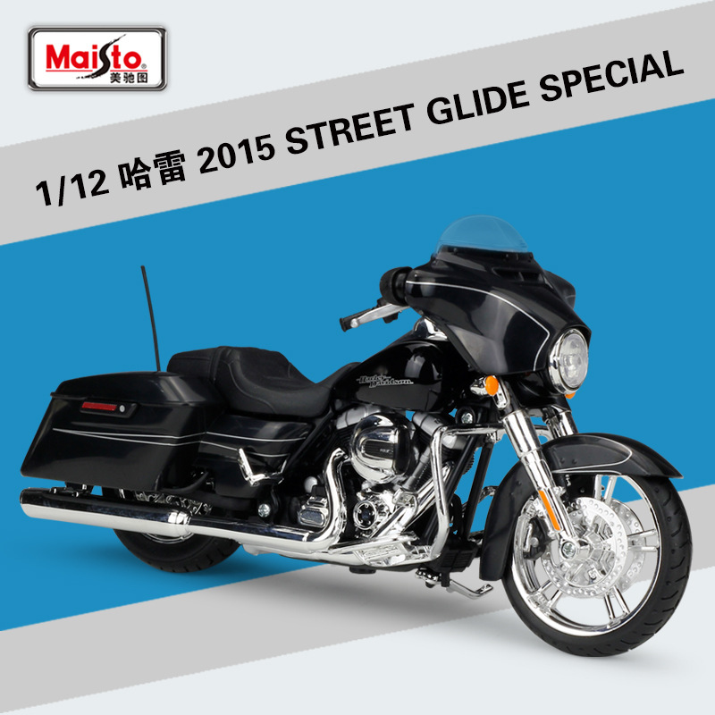 <font><b>1:12</b></font> 2015 STREET GLIDE SPECIAL Maisto Model Car Metal <font><b>Diecast</b></font> Model Sport Race Motorcycle Model Motorbike For Collectible image