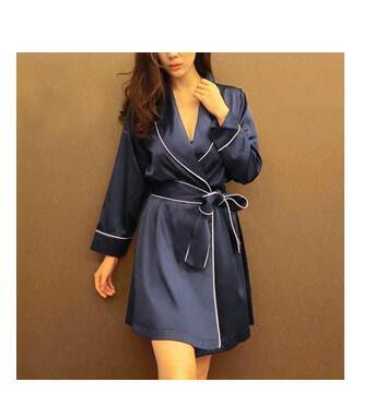 Pink Satin Robe Sexy Peignoir Femme Soie Satin Robes Women Silk Robes For Women Pijamas Batas De Seda Peignoir Kimono Rob