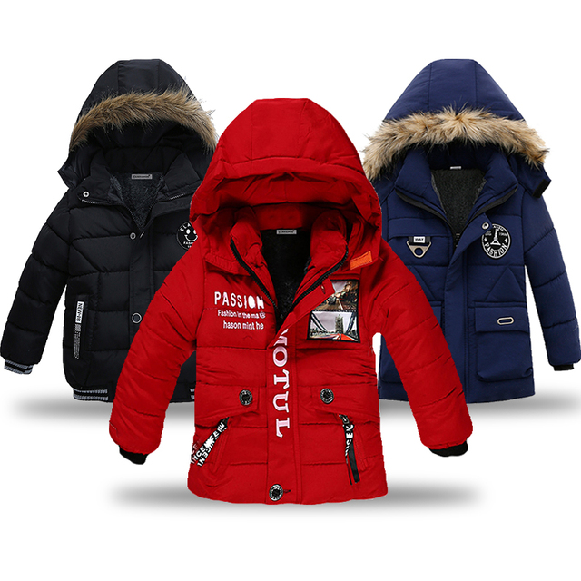 Children Jackets for Boys Clothes 2019 Winter Baby Boy Jackets warm Kids down Coat Boys Outerwear &Coats fashion winter padded