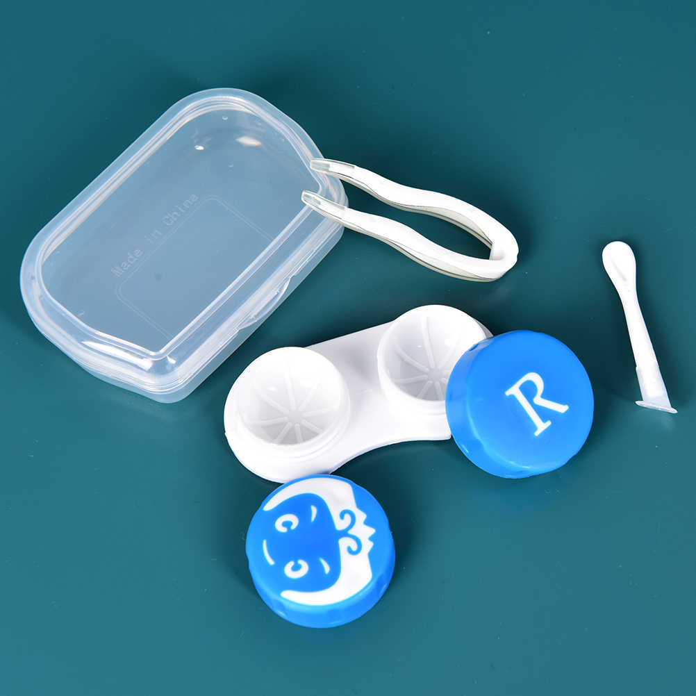 Portable Travel Contact lens Case for Eyes Care Kit Holder Container Glasses Contact Lenses Box with Tweezer Stick