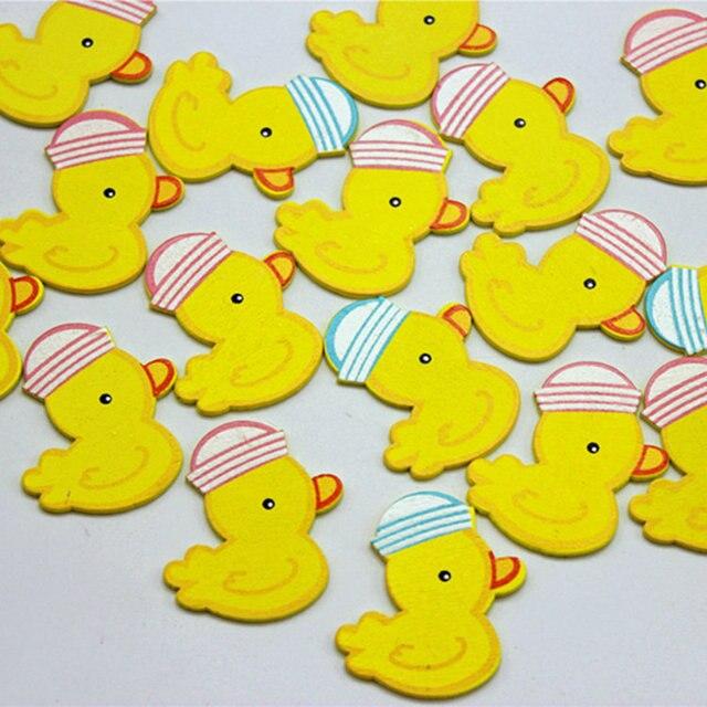 12 teilelos gelbe ente holz aufkleber ostern handwerk kinderzimmer dekoration - Kinderzimmer Dekoration Handwerk