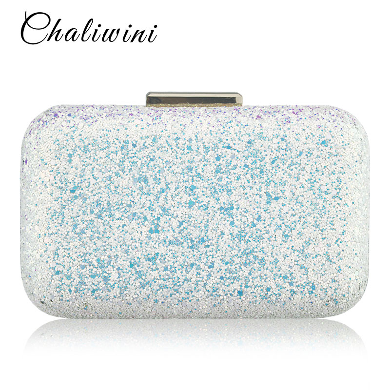Chaliwini Evening bag Women Clutch bags Crystal Day Clutch Wallet Wedding Purse Party Banquet Women Party Bag Evening bags in Top Handle Bags from Luggage Bags
