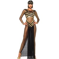 Ancient Egyptian Goddess Adults Women Cosplay Party Costume Halloween Sexy Cleopatra Princess Gothic Nightgown Sexy Suit