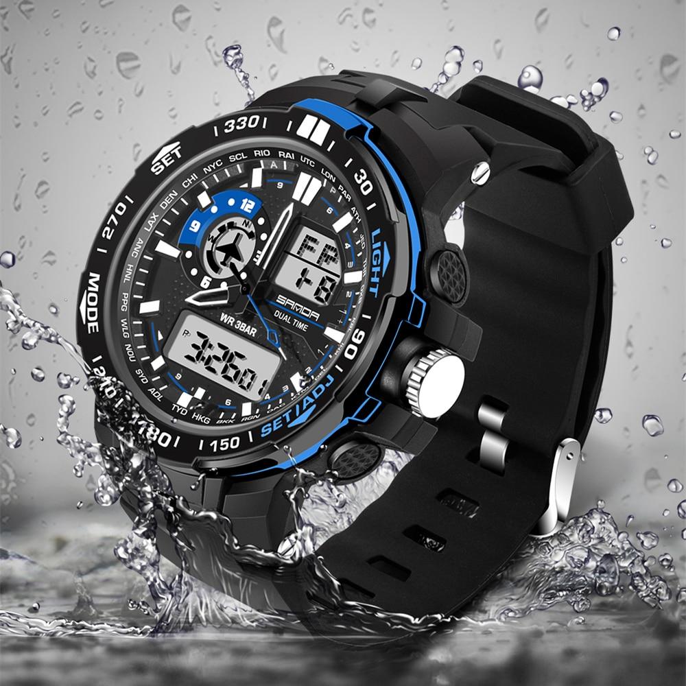 Nova prodaja Sanda Chronograph Casual Watch Moški Luksuzna znamka - Moške ure