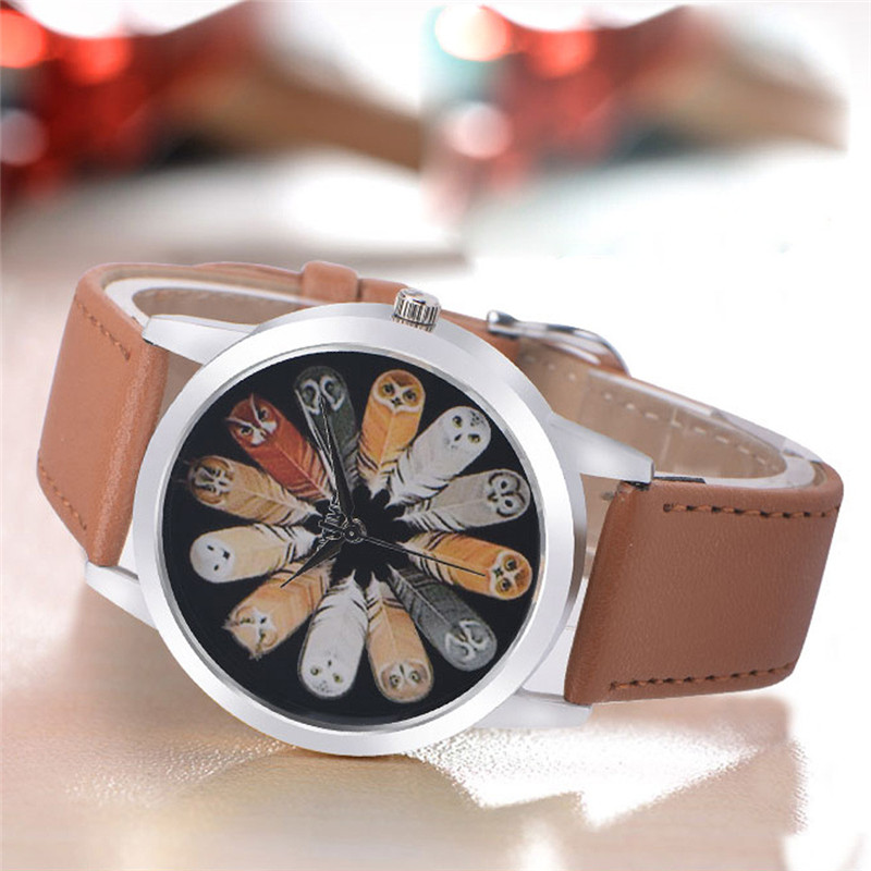 Owl Design Women Watch Luxury Casual Simple Quartz Clock For Women Leather Strap Vogue Wrist Watches Reloj Mujer Drop Ship #C HTB1h98LDbSYBuNjSspfq6AZCpXa4