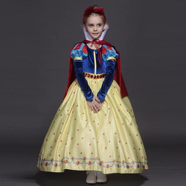 Новый высокое качество дети принцесса софия платье для девочек-младенцев белоснежка косплей костюм детей рождество ну вечеринку пачка платья