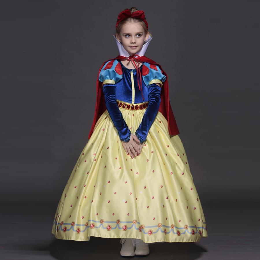 New High quality Kids princess sofia dress for baby girls snow White Cosplay Costume children christmas party tutu dresses