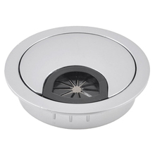 Desktop Computer 53mm Dia Circle Stainless Steel Cable Hole Cap Cover(China (Mainland))