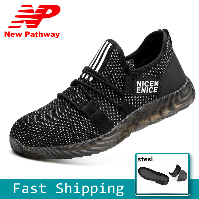 Fashion Safety Shoes Mens Outdoor Breathable Work Shoes Steel Toe Puncture-Proof Footwear for Work Big Size 36-46 MS156Fashion Safety Shoes Mens Outdoor Breathable Work Shoes Steel Toe Puncture-Proof Footwear for Work Big Size 36-46 MS156