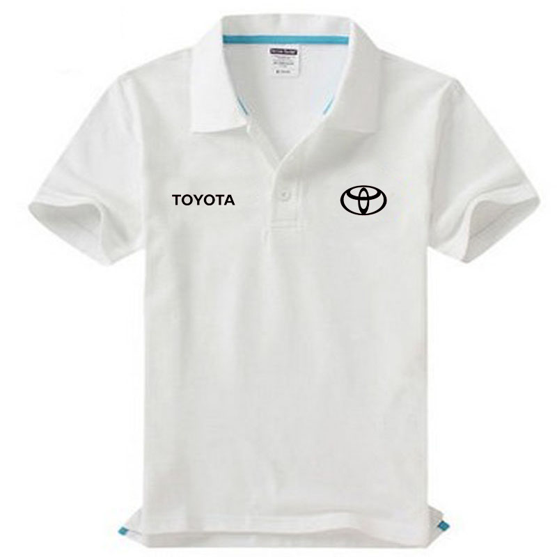 Brand clothing Toyota logo   Polo   Shirt Casual solid male   polo   shirt Short Sleeve High quality