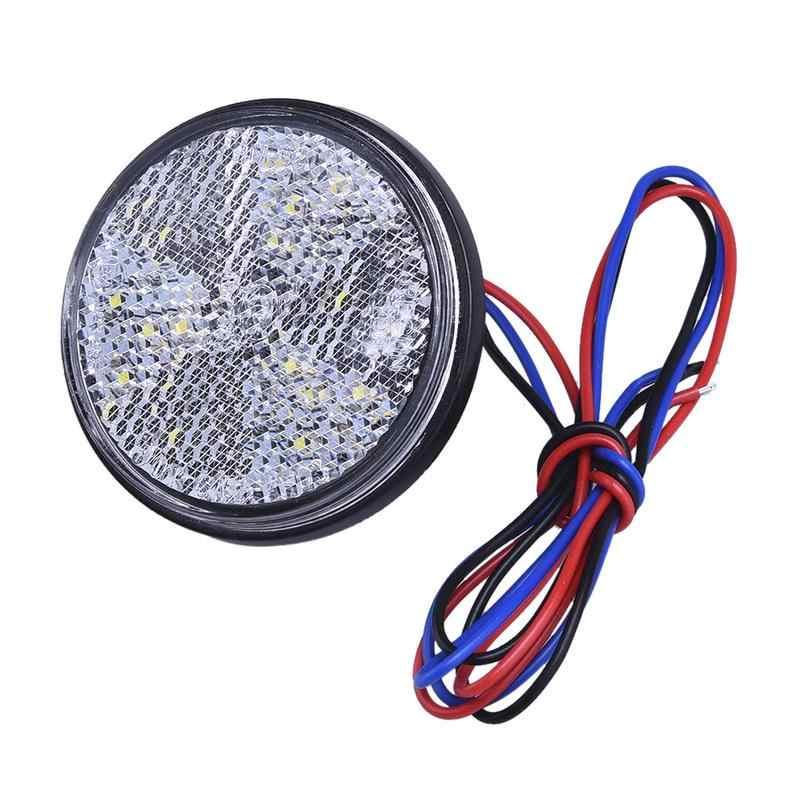 Yeni Araba Motor 24 SMD Araba Yuvarlak park lambaları Dönüş Sinyali Işık ATV LED Reflektörler Kamyon Yan Uyarı Işıkları Kırmızı Sarı beyaz