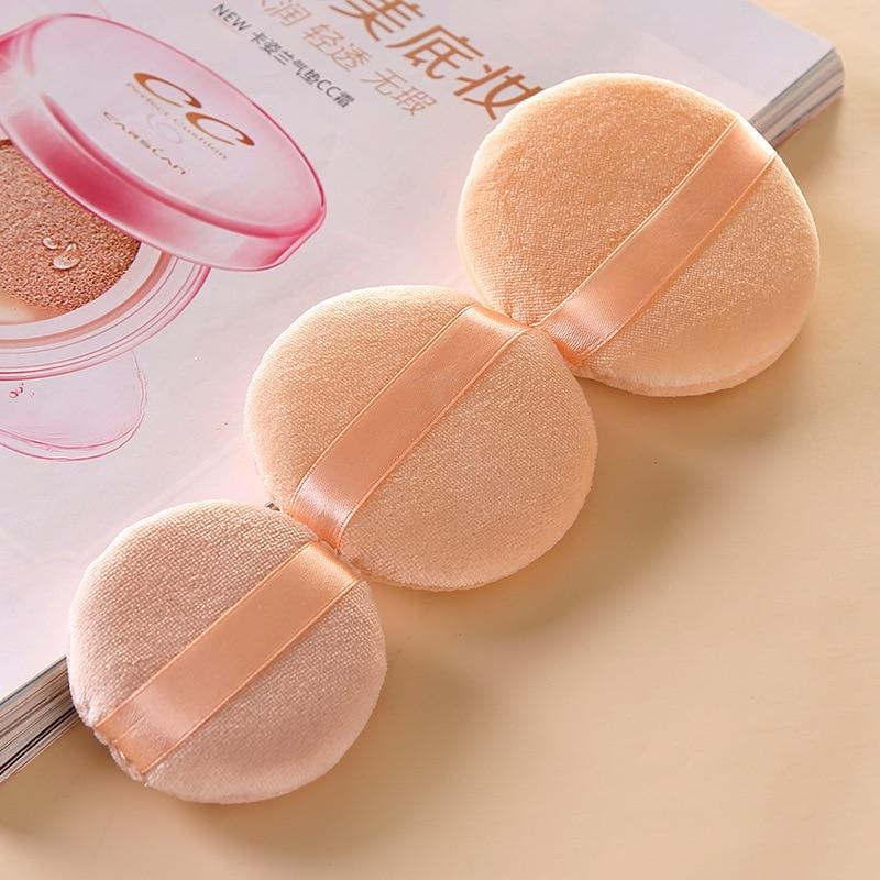 1 pcs Professional Round Shape BB Cream Powder Puff Portable Soft Cosmetic Makeup Foundation Sponge For Women 3 Size Hot